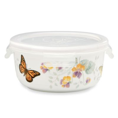 Lenox® Butterfly Meadow® 5 3/4-Inch Square Serve & Store Bowl with Lid