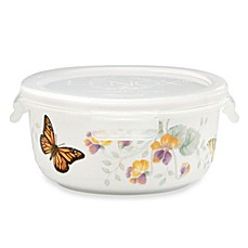 Lenox® Butterfly Meadow® 5.75-Inch Round Serve & Store Bowl with Lid