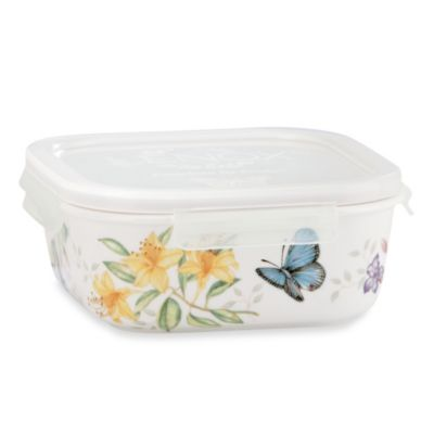 Lenox® Butterfly Meadow® 6-Inch Square Serve & Store Bowl with Lid