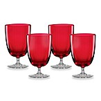 Lenox® Holiday™ Optics Tumbler Glass Set in Red (Set of 4)