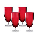 Lenox® Holiday™ Optics All Purpose Glass Set in Red (Set of 4)