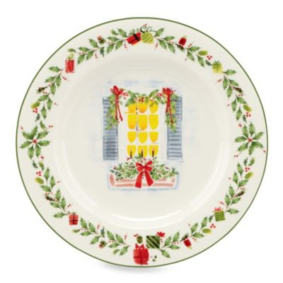 Lenox® Holiday Illustrations 9-Inch Window Salad Plate