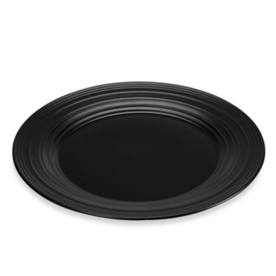 Swirl Black 11-Inch Dinner Plate