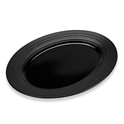 Swirl Oval Platter in Black