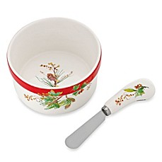 Lenox® Winter Song Dip Bowl with Spreader
