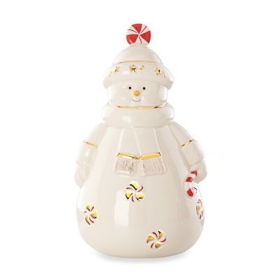 Lenox® Peppermint Splendor Lighted Snowman Figurine