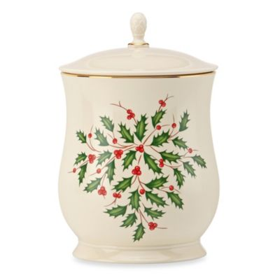 Lenox® Holiday™ Cookie Jar with Lid
