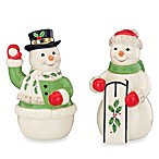 Lenox® Holiday Snowmen Salt and Pepper Shakers