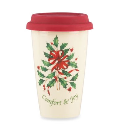 "Lenox® Holiday™ ""Comfort and Joy"" Travel Mug"