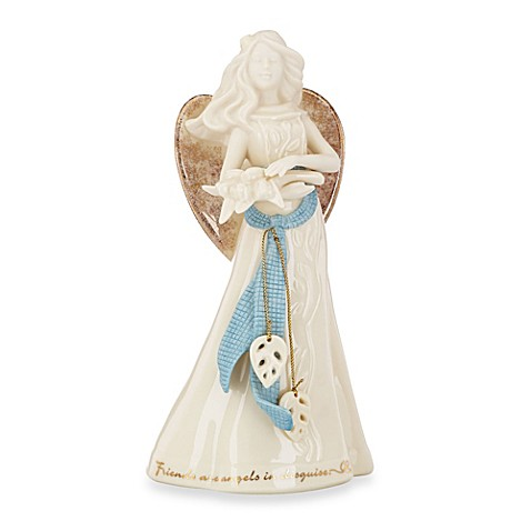 Lenox gifts of grace angel figurine friends are angels in disguise bed bath beyond - Angels figurines for sale ...
