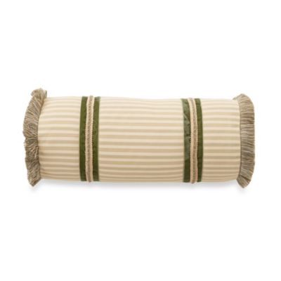 Waterford® Wexford Neckroll Toss Pillow in Sage