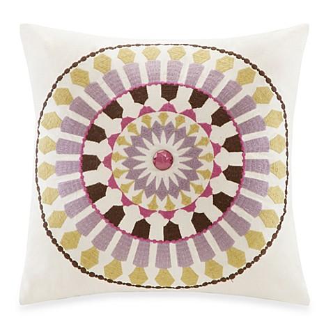 White Square Throw Pillows : Echo Design Vineyard Paisley Antique White Square Throw Pillow - Bed Bath & Beyond