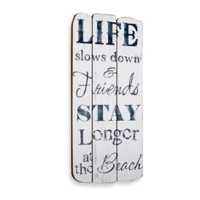 Life at the Beach Plaque Wall Art
