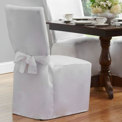 Dining Room Chair Cover in White