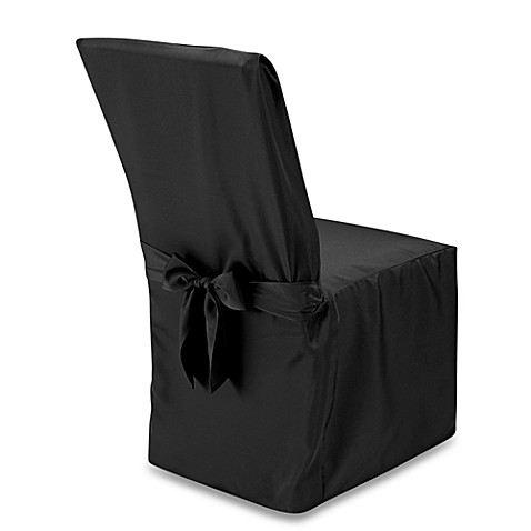 buy dining room chair cover in black from bed bath beyond