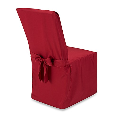 buy dining room chair cover in red from bed bath beyond