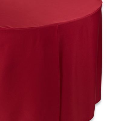 Round 60-Inch Folding Table Tablecloth in Red