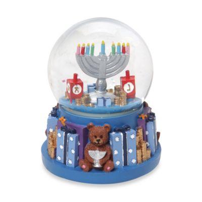 Hanukkah Menorah Revolving Water Snow Globe