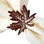 Enamel Maple Leaf Napkin Ring (Set of 4)