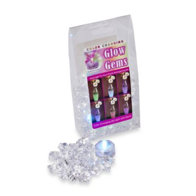 100-Count Acrylic Glow Gems with Battery Operated Submersible Color Changing LED Light