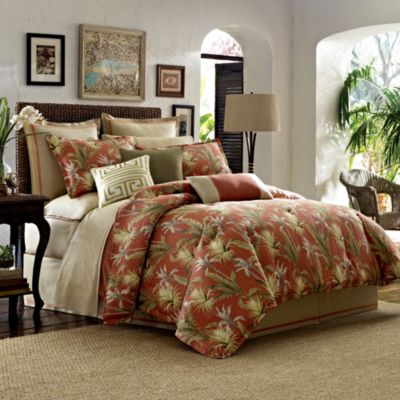 Tommy Bahama Orange King Bed