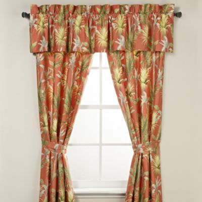 Tommy Bahama® Catalina Window Valance in Tangerine