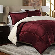 The Seasons®  Reversible Down Alternative Comforter Set in Red