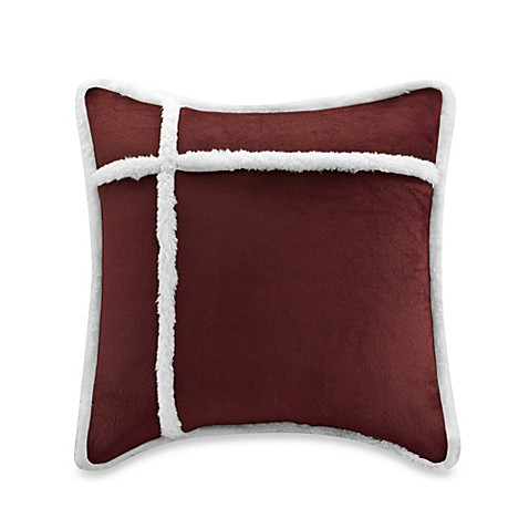Down Alternative Decorative Pillows : The Seasons Reversible Down Alternative Square Throw Pillow - Bed Bath & Beyond