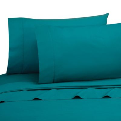 Cotton Percale Sheet Set in Teal