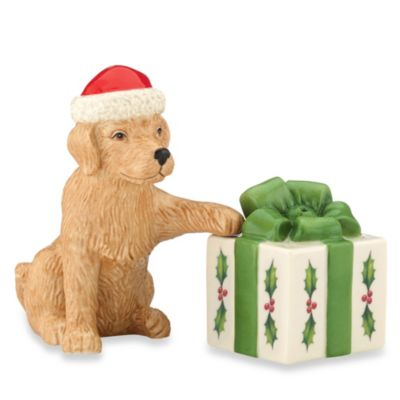 Lenox® Dog and Present Holiday™ Salt & Pepper Shaker Set