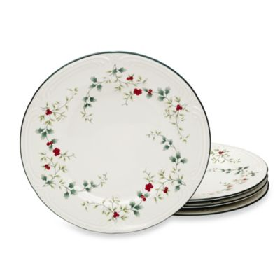 Pfaltzgraff® Winterberry Dinner Plates (Set of 4)