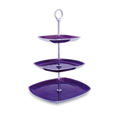 Simply Designz Bodoni Collection 3-Tier Server in Plum