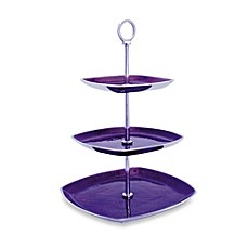 Simplydesignz Bodoni 3-Tier Server in Plum