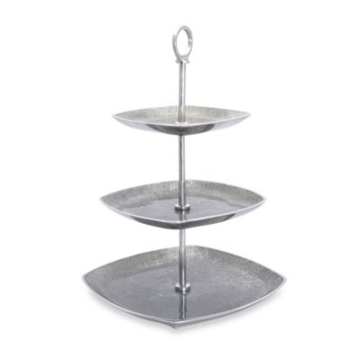 Simply Designz Bodoni Collection 3-Tier Server in Silver