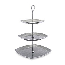 Simplydesignz Bodoni 3-Tier Server in Silver