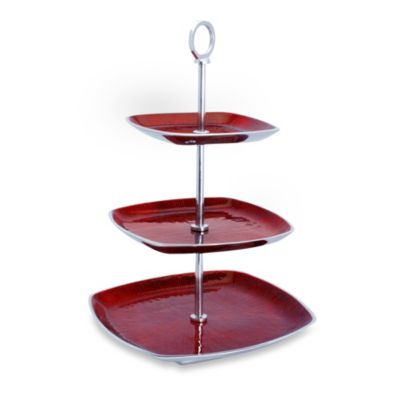 Simplydesignz Bodoni 3-Tier Server in Red
