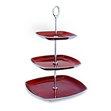 Simplydesignz Bodoni 3-Tier Server in Ruby Red