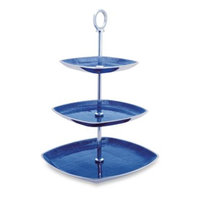 Simply Designz Bodoni Collection 3-Tier Server in Blue