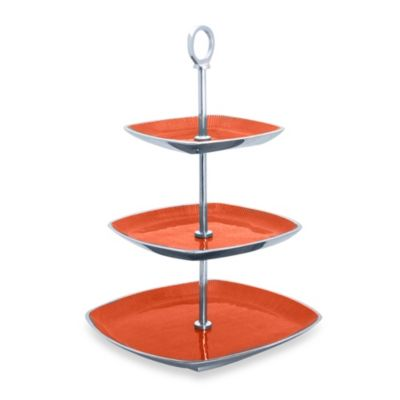 Simply Designz Bodoni Collection 3-Tier Server in Orange