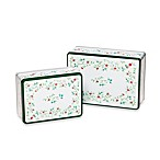 Pfaltzgraff® Winterberry Rectangular Cake Tins (Set of 2)