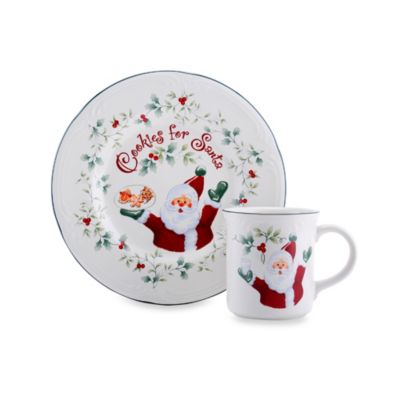 "Pfaltzgraff® Winterberry 2-Piece ""Cookies for Santa"" Plate and Mug Set"