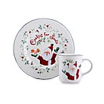 Pfaltzgraff® Winterberry Cookies & Milk for Santa Plate and Mug Set