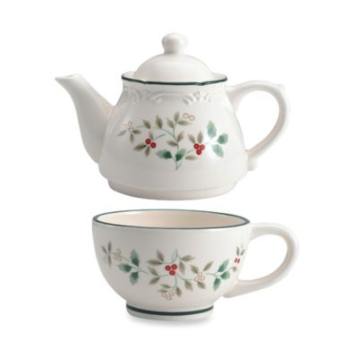 Pfaltzgraff® Winterberry Sculpted Tea for One