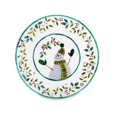 Pfaltzgraff® Winterberry Round Snowman Platter