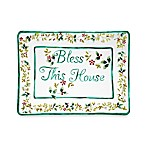Pfaltzgraff® Winterberry Rectangular Bless This House Platter