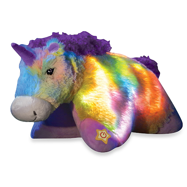 Pillow Pets Glow Pets Night Light Plush Rainbow Unicorn 16