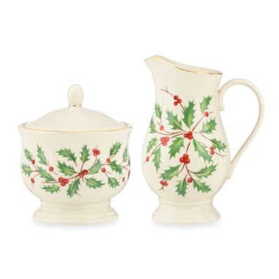 Lenox® Holiday™ Sugar and Creamer Set