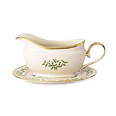 Lenox® Holiday™ Gravy Boat and Stand