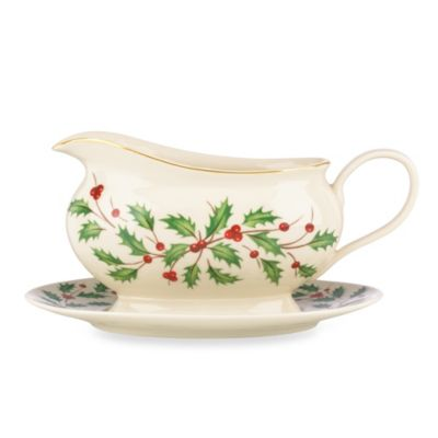 Lenox® Holiday™ Porcelain Gravy Boat with Stand