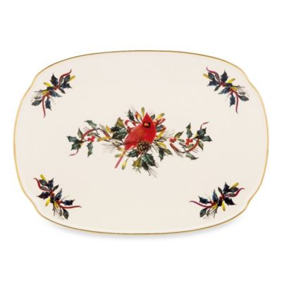 Lenox® Winter Greetings® 15.25-Inch Oblong Platter
